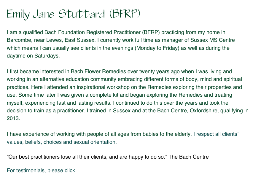 Emily Jane  Stuttard  (BFRP)